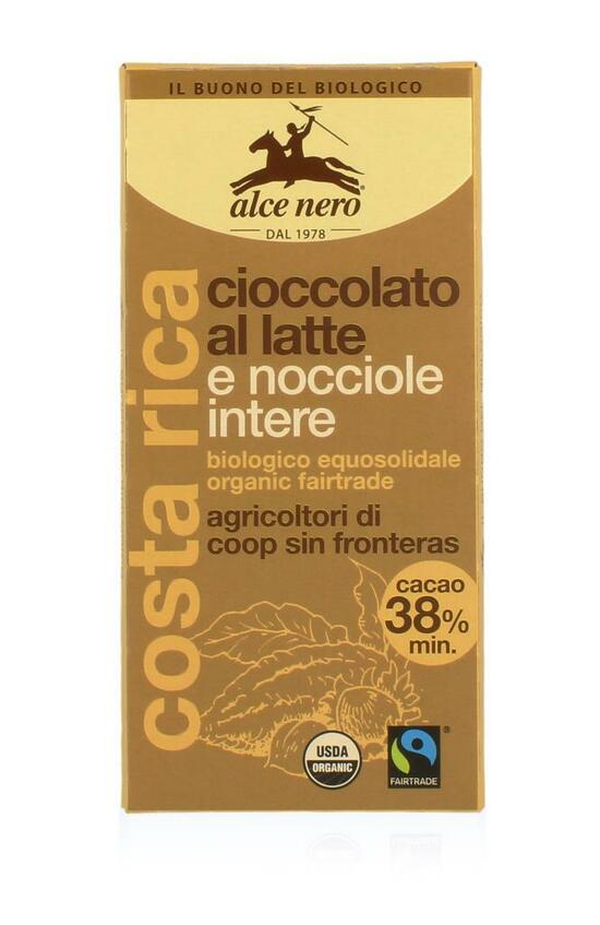 Фото №2 ALCE NERO Шоколад Молочный с лесным орехом 100 г