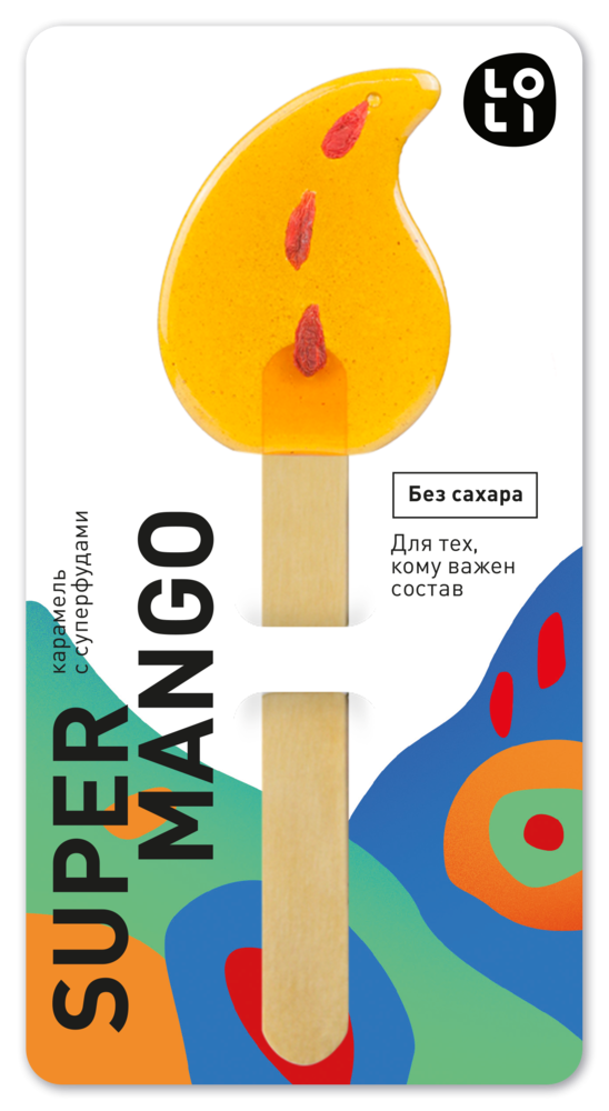 Фото №2 LO-LI Карамель super mango Без Сахара 35 г