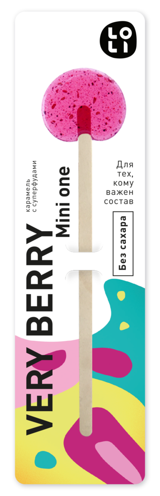 Фото №2 LO-LI Карамель very berry mini one Без Сахара 8 г