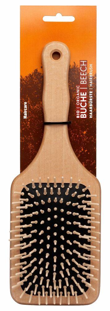 Фото №2 FORSTERS NATURAL Щётка для волос деревянная прямоугольная с деревянными зубчиками