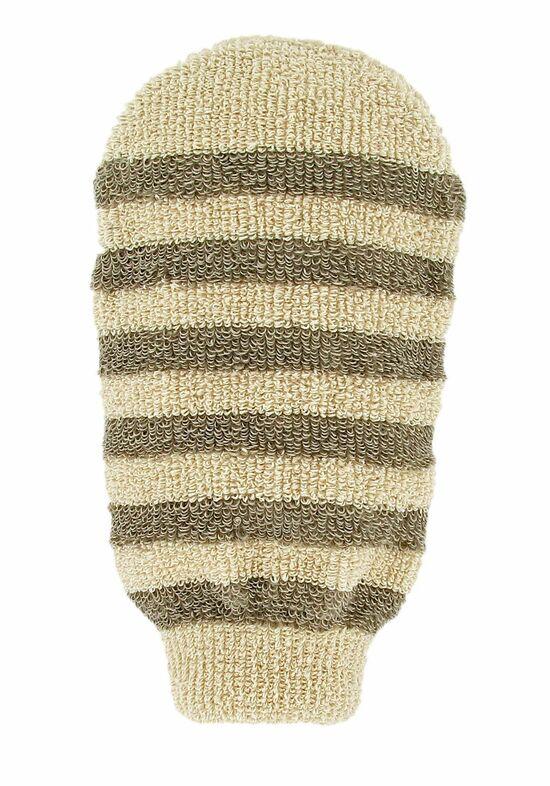 Фото №2 FORSTERS NATURAL Мочалка-варежка массажная полосатая из органических хлопка и льна