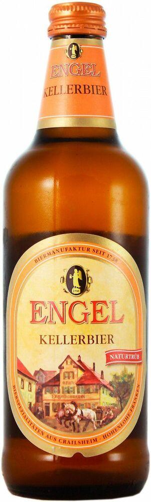 Фото №2 Пиво ENGEL Келлербир Хель светлое нефильтрованное пастеризованное, Германия, алк. 5,4% 0,5 л