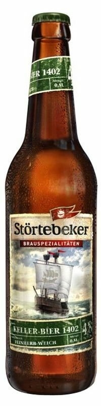 Фото №2 Пиво STORTEBEKER Келлер Бир 1402 светлое нефильтрованное пастеризованное, Германия, алк. 4,8% 0,5 л