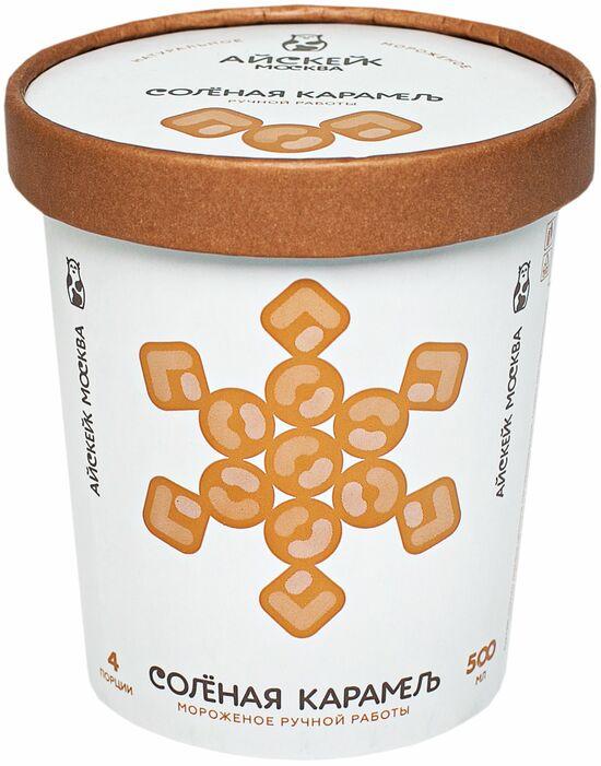 Фото №2 АЙСКЕЙК ЭКО Мороженое соленая карамель 500 мл