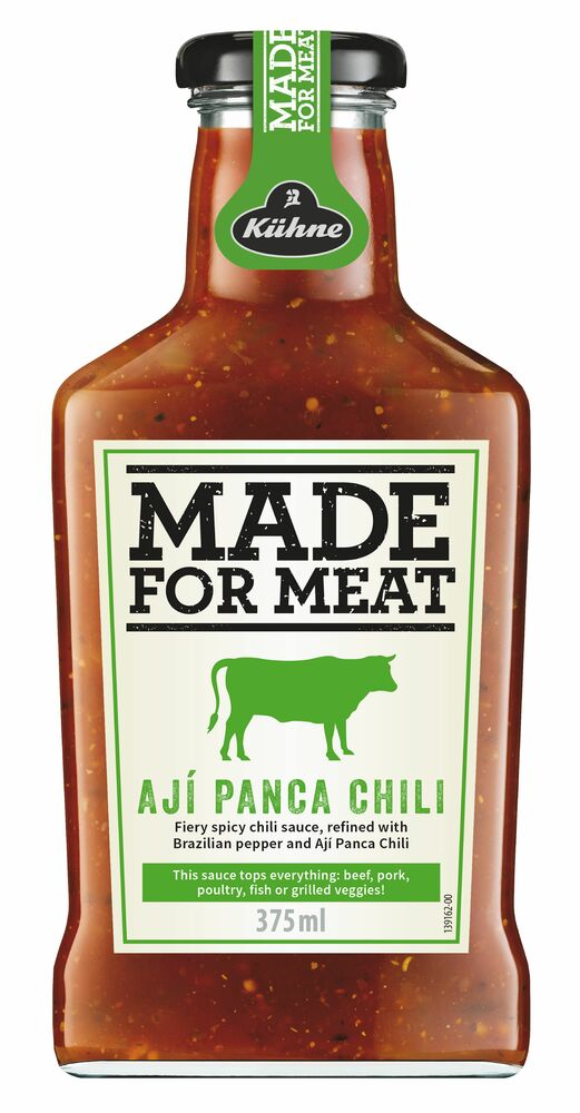 Фото №2 KUHNE Made for Meat Соус томатный С перцем чили и кинзой Aji Panca Chili ст/бут 375 мл