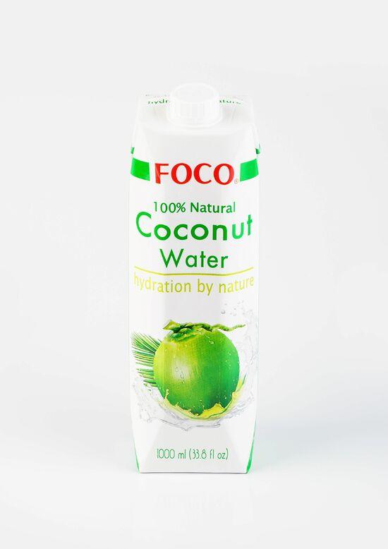 Фото №2 FOCO Кокосовая вода  Органическая Без сахара 1000 мл