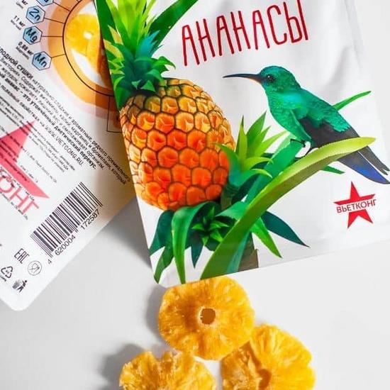 Фото №2 ВЬЕТКОНГ Ананас сушеный  zip-пакет 100 г