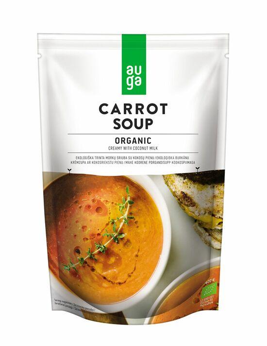 Фото №2 AUGA Суп морковный с кокосовой водой пакет д/п ORGANIC 400 г