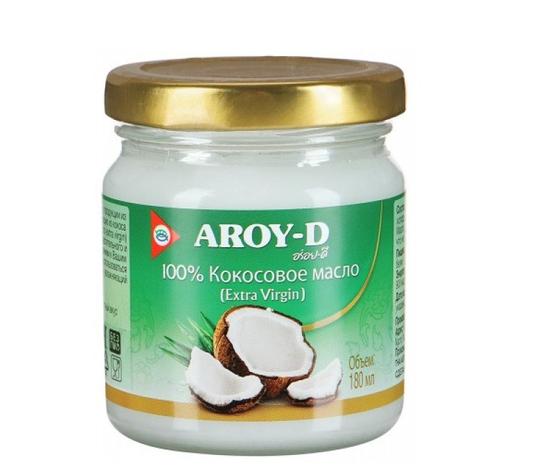 Фото №2 AROY-D 100% Кокосовое масло (extra virgin) 180 мл