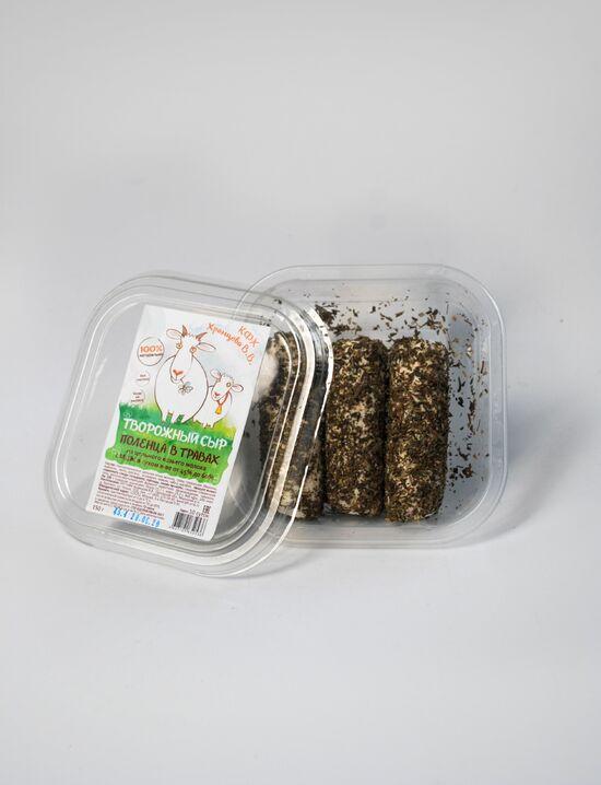 Фото №2 КФХ ХРАМЦОВА Сыр творожный поленца в травах из козьего молока
