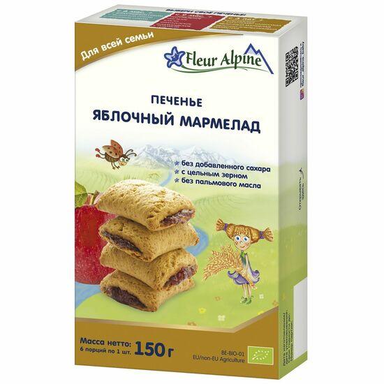 Фото №2 ФЛЁР АЛЬПИН Печенье детское Яблочный мармелад с 18 мес 150 г