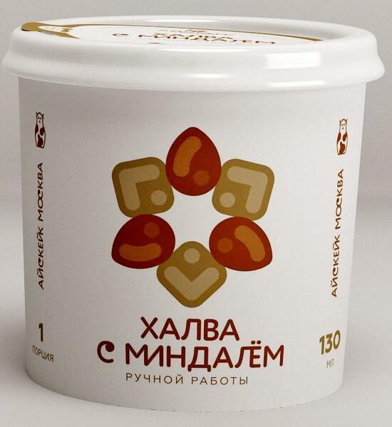 Фото №2 АЙСКЕЙК ЭКО Мороженое халва с миндалем 130 мл
