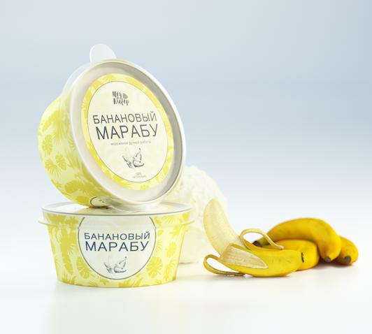 Фото №2 МЁД И КЛЕВЕР Мороженое Банановый Марабу 190 мл