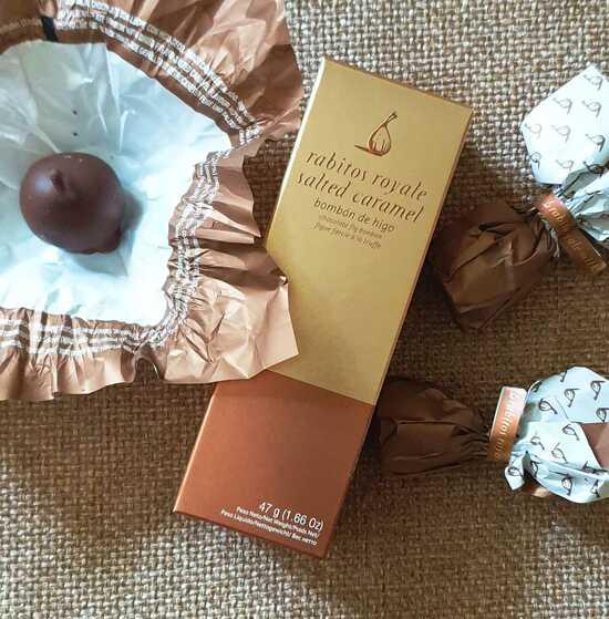 Фото №2 Инжир в молочном шоколаде с соленой карамелью №3 (Rabitos royale milk 47 g)
