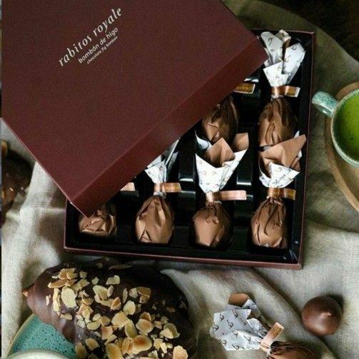 Фото №2 Инжир в молочном шоколаде с соленой карамелью №8 (Rabitos royale milk 142 g)