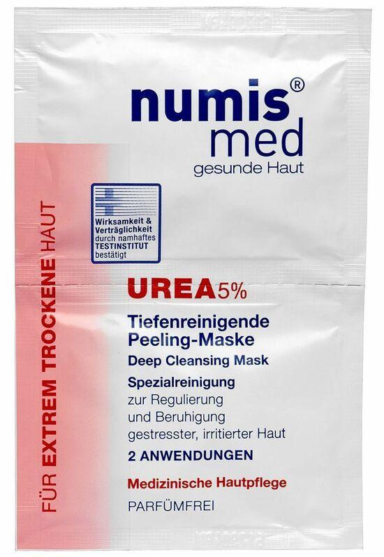 Фото №2 NUMIS MED Глубокоочищающая маска для лица С 5% мочевиной Двойное саше по 8 мл