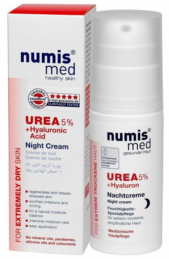 Фото №2 NUMIS MED Ночной крем С 5% мочевиной и гиалуроновой кислотой 50 мл