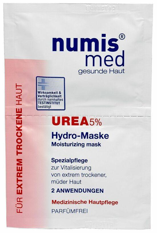 Фото №2 NUMIS MED Увлажняющая маска для лица С 5 % мочевиной Двойное саше по 8 мл