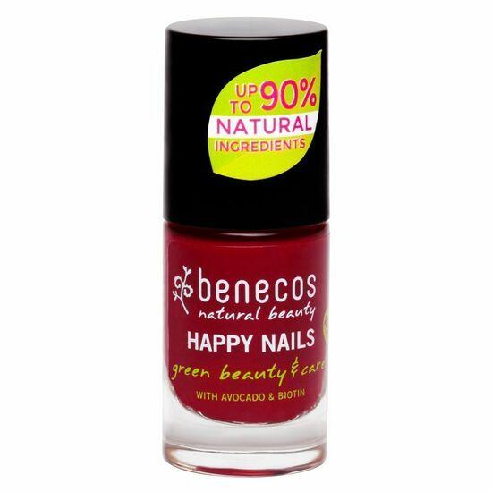 Фото №2 BENECOS Лак для ногтей тон Вишнёвый красный 5 мл