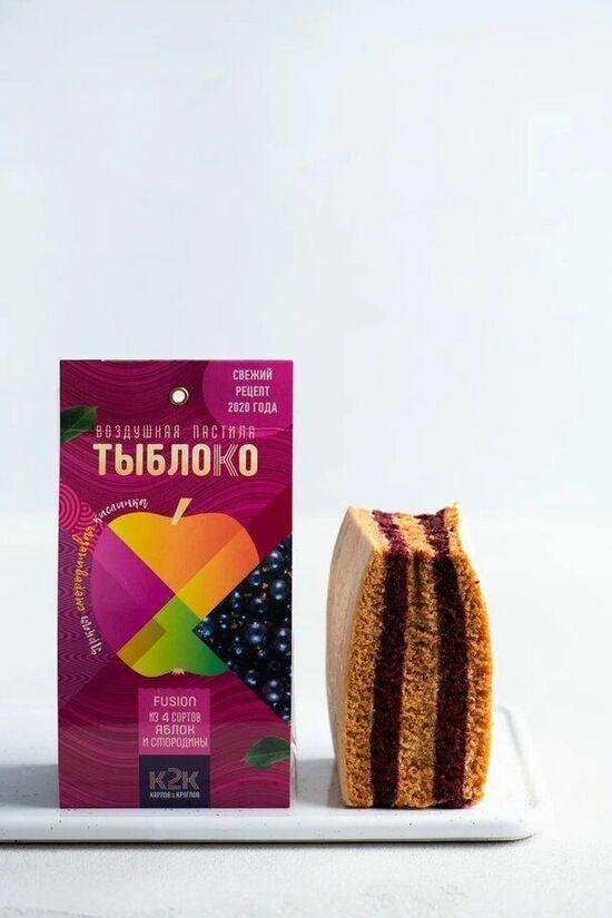 Фото №2 ТЫБЛОКО Пастила из 4-х сортов яблок и смородины 100 г