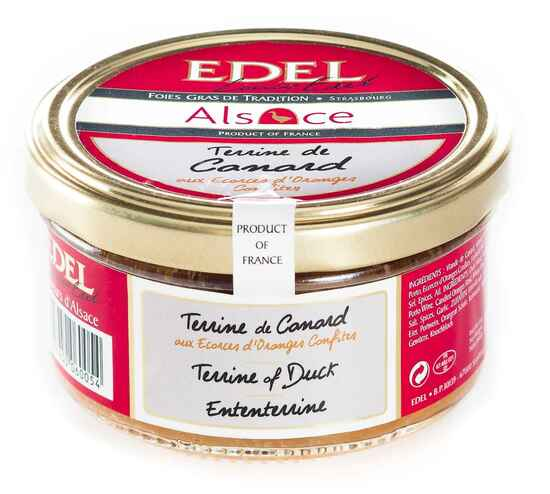 Фото №2 EDEL Террин из мяса утки с цукатами из апельсина традиционный французский, ручной работы (стекло) 140 г