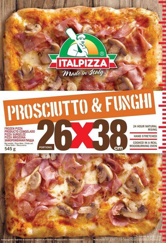 Фото №2 ITALPIZZA Пицца Ветчина и грибы (Италия) з/м 545 г