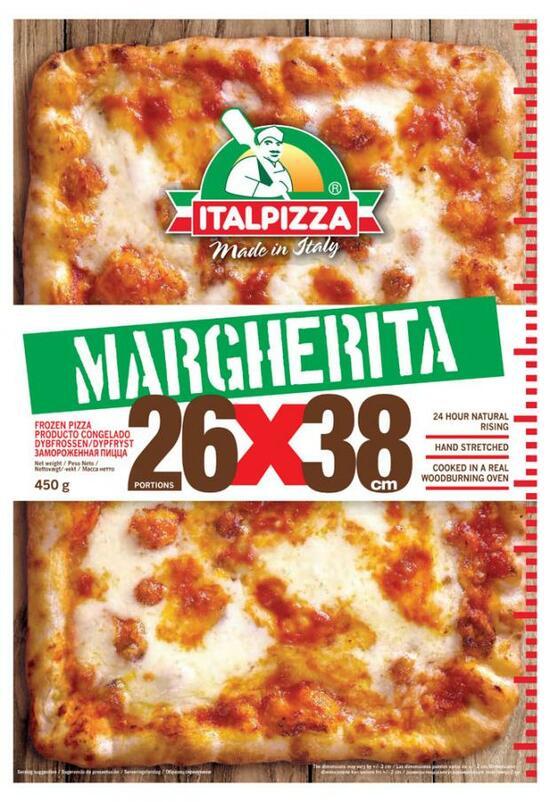 Фото №2 ITALPIZZA Пицца Маргарита (Италия) з/м 450 г