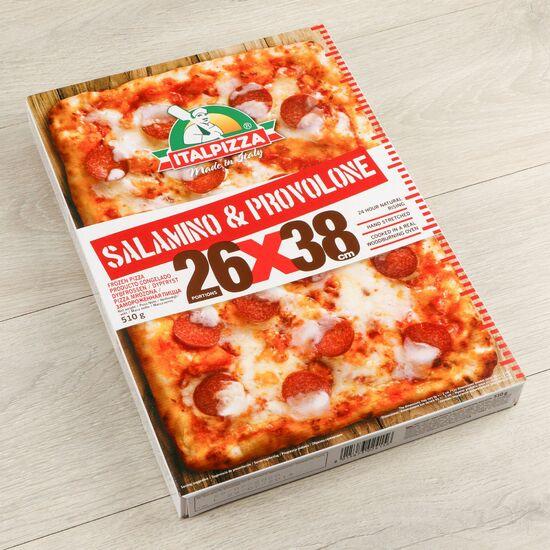 Фото №2 ITALPIZZA Пицца Салями и сыр Проволоне (Италия) з/м 510 г