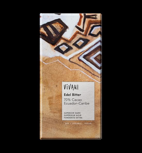 Фото №2 VIVANI Шоколад тёмный 70% какао Эквадор 100 г