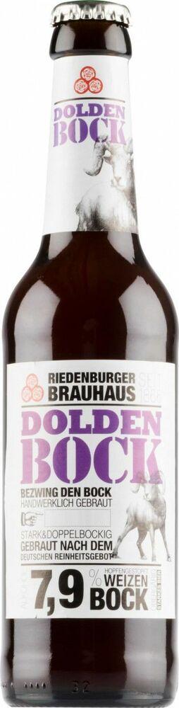 Фото №2 РИДЕНБУРГЕР ДОЛДЕН БОК Пиво светлое нефильтров., Германия, алк. 7,9%, 0,33 л