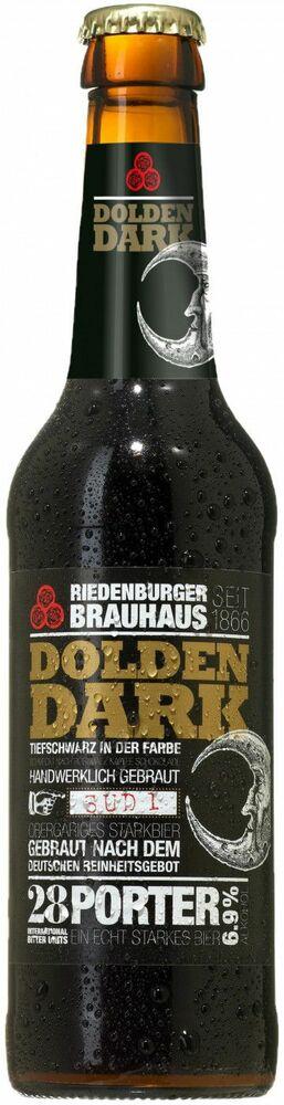 Фото №2 РИДЕНБУРГЕР ДОЛДЕН ДАРК Пиво тёмное нефильтров., Германия, алк. 6,9%, 0,33 л