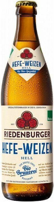 Фото №2 РИДЕНБУРГЕР ХЕФЕ-ВАЙЦЕН ХЕЛЬ Пиво светлое нефильтров., Германия, алк. 5,2% 0,5 л