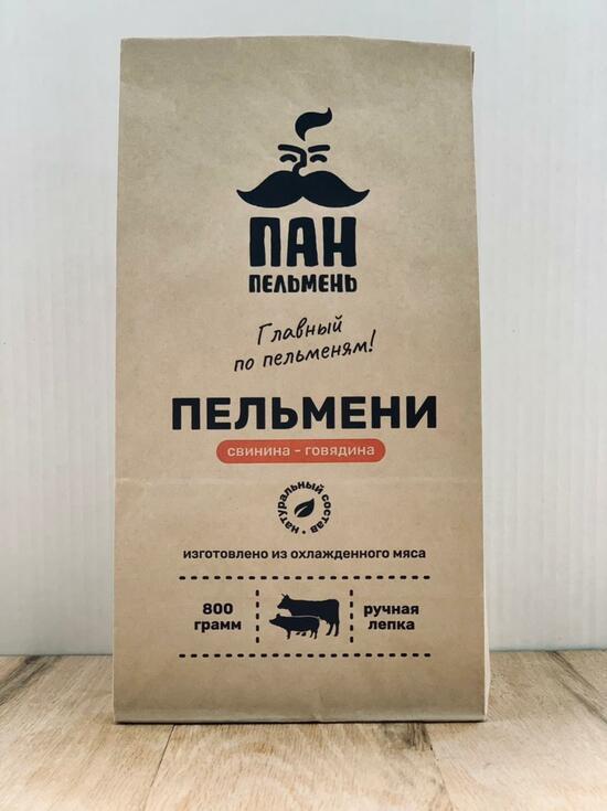 Фото №2 ПАН ПЕЛЬМЕНЬ Пельмени свинина-говядина 800 гр.