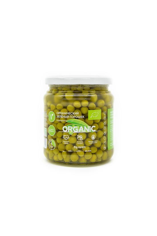 Фото №2 ORGANIC Зеленый горошек без добавления сахара 450 мл