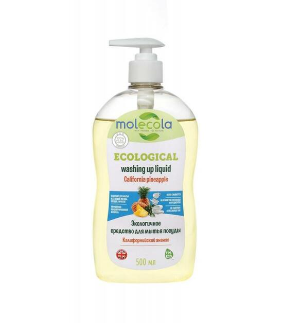 Фото №2 MOLECOLA Средство для мытья посуды Калифорнийский Ананас экологичное 500 мл