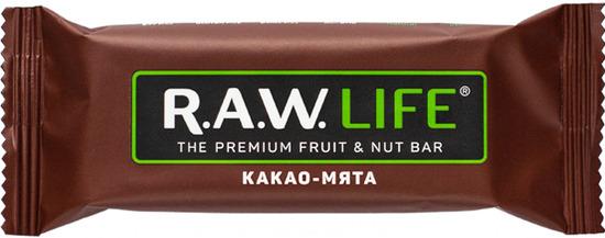 Фото №2 R.A.W. LIFE Батончик орехово-фруктовый Какао-мята 47 г