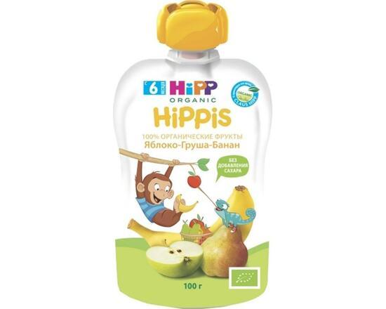 Фото №2 HIPP Пюре яблоко-груша-банан с 6 мес пауч 100 г