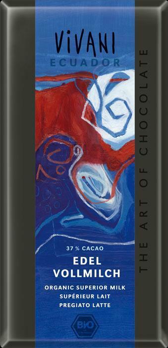 Фото №3 VIVANI Шоколад молочный 37% какао Эквадор 100 г
