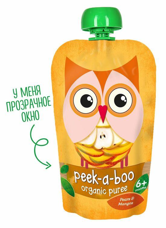 Фото №2 PEEK-A-BOO Пюре груша-манго с 6 мес 113 г