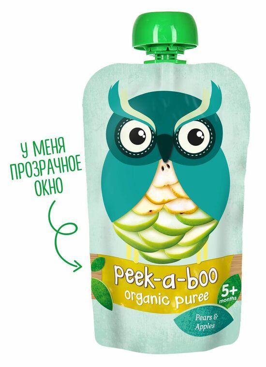 Фото №2 PEEK-A-BOO Пюре яблоко-груша с 5 мес 113 г