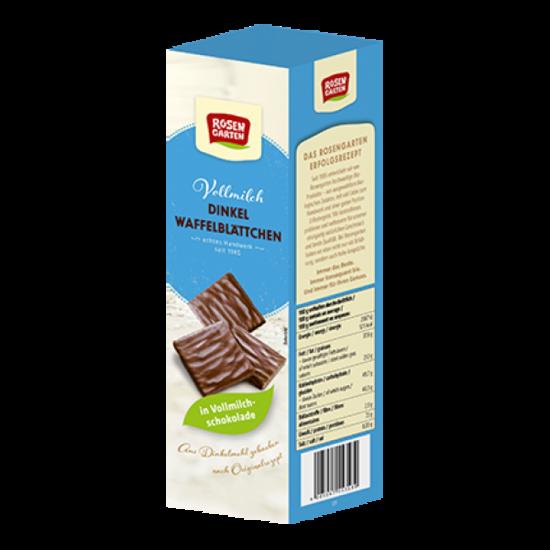 Фото №2 ROSENGARTEN Вафельные листочки из полбы в молочном шоколаде 125 г