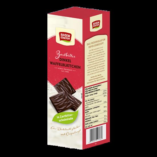 Фото №2 ROSENGARTEN Вафельные листочки из полбы в горьком шоколаде Веган 125 г