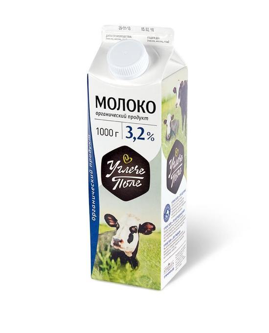 Фото №2 УГЛЕЧЕ ПОЛЕ Молоко пастеризованное 3,2%