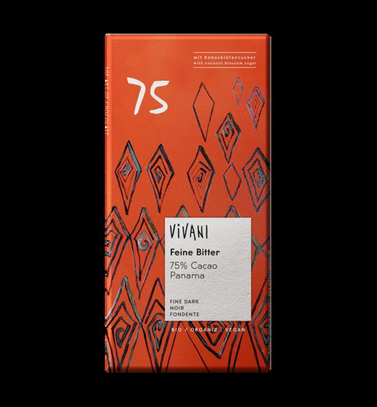 Фото №2 VIVANI Шоколад тёмный 75% какао 80 г