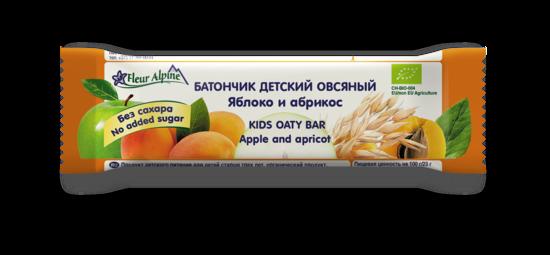 Фото №2 ФЛЁР АЛЬПИН Батончик детский овсяный яблоко-абрикос с 3 лет 23 г