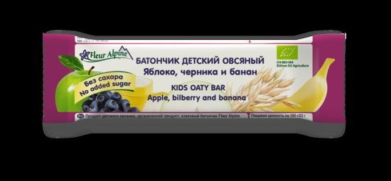 Фото №2 ФЛЁР АЛЬПИН Батончик детский овсяный яблоко-черника-банан с 3 лет 23 г
