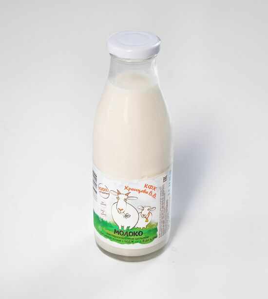 Фото №2 КФХ ХРАМЦОВА Молоко козье питьевое пастеризованное 2,8-5,6% 0,5 л