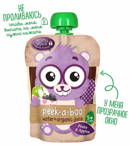 Фото №2 PEEK-A-BOO Сок яблоко-чернослив с очищенной водой с 5 мес 150 мл