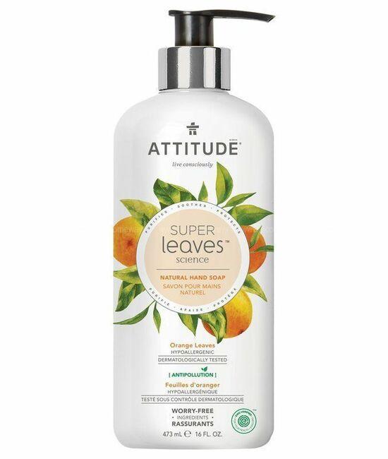 Фото №2 ATTITUDE Жидкое мыло Super Leaves Листья апельсина 473 мл
