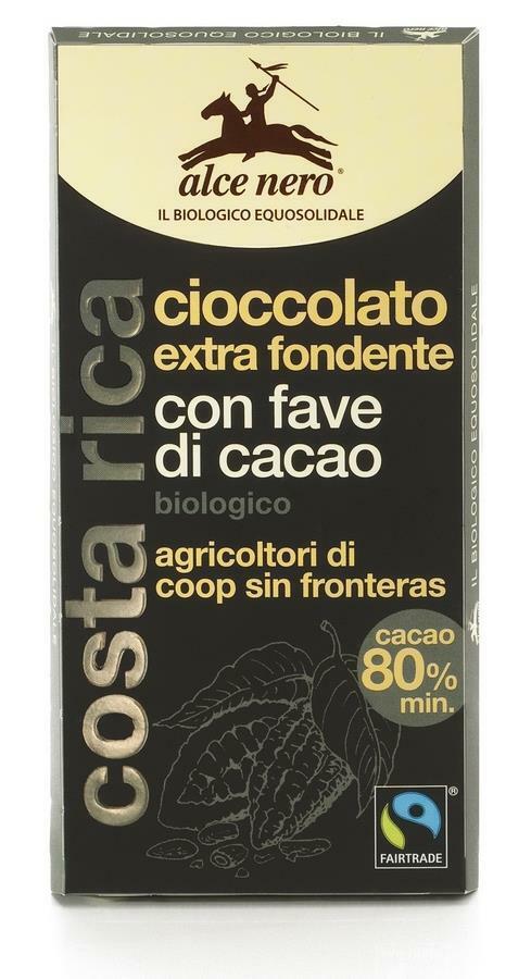 Фото №2 ALCE NERO Шоколад Горький с дроблеными зернами какао 100 г